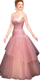 New Tremendous Strapless Ball Gown