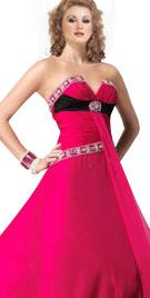 Designed V Neck Gown   New Year Dresses