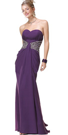 Heavy beaded waist prom dress