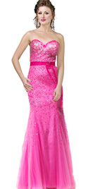 Sequined mermaid cut prom dress