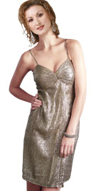 Gold Slip Prom Dress