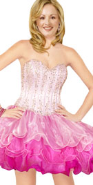 Multilayered Prom Dress   Prom Gown