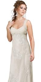 Stunning premium silk embroidered chiffon prom gown