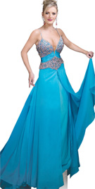 Front Split Layer Evening Dress