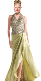 Buy Online Wrapped Style Red Carpet Dress