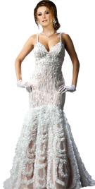 Spaghetti Strapped Mermaid Cut Dress | Red Carpet Dresses
