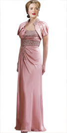 Stone Studded Bodice Red Carpet Dress