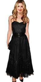 Short Black Strapless Red Carpet Dress