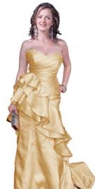 Christina Hendricks Style Red Carpet Dress
