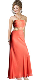Side Cutout Spring Gown