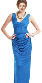 Dazzling Pleated Spring Floor Length Gown
