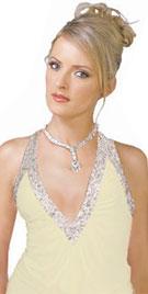 Pristine chiffon spring gown