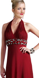 Haute Halter Floor Length Dress