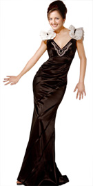 Elegant Floor Length Thanksgiving Dress