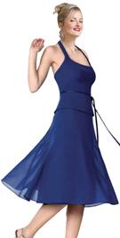 Flirty Two Piece Georgette Ribbon Waist Tie-up Dress