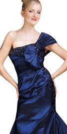 Opulent One Shoulder Floor Length Gown | Winter Wear