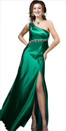 Enchanting Front Slit Gown   Winter Gowns